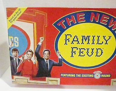 The New Family Feud Board Game Pressman Complete Bullseye Round 1993