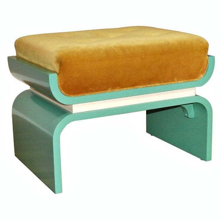 art moderne furniture. 1930s donald deskey art moderne lacquered wood bench footstool furniture