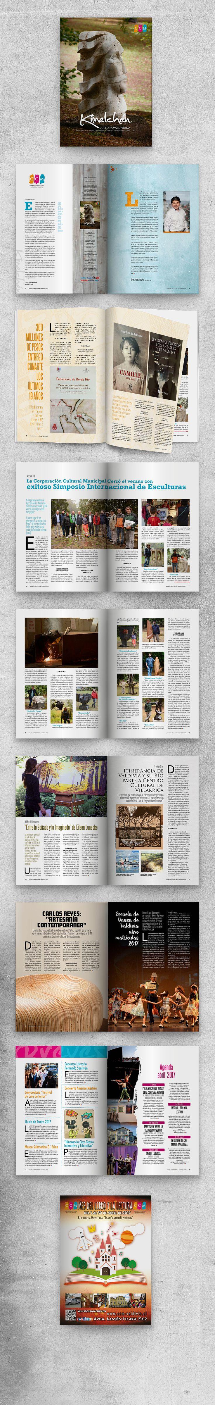 Diseño y diagramación Revista Kimelchen nº194 - marzo 2017 - CCM Centro Cultural Municipal de Valdivia