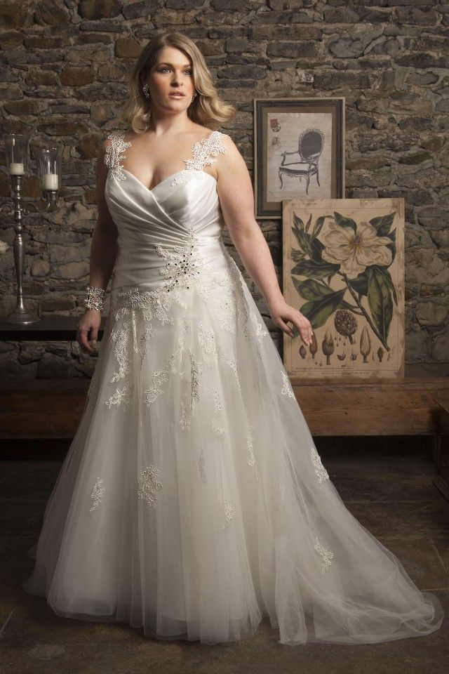 Cute Amsterdam Callista Plus Size Wedding Dresses