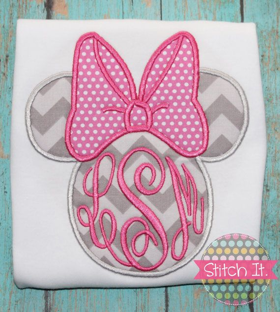Hey, I found this really awesome Etsy listing at https://www.etsy.com/listing/180846769/chevron-minnie-mouse-monogram
