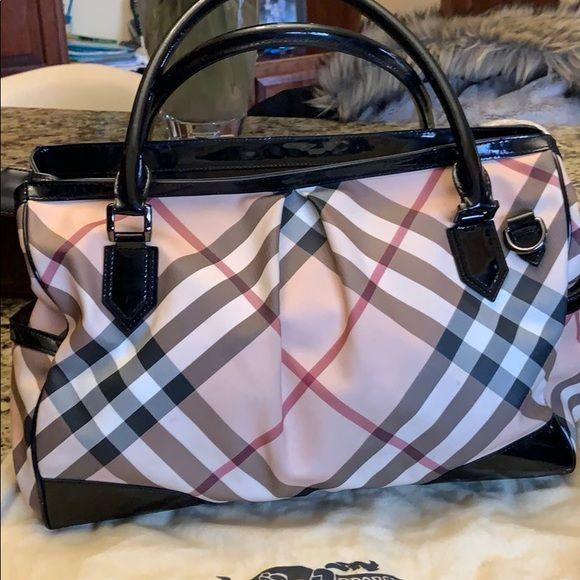 2aca46de76ef Burberry Madison Nova Check Bag Very gently used 100% Authentic Burberry bag.  Side pockets