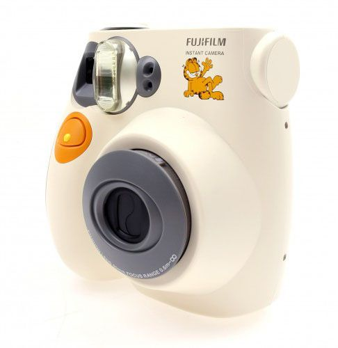 Instax Camera Mini 7s Garfield by Fujifilm, automatic flash charge time for the 2 seconds to 4 seconds, manual adjust for four sections to choose, easy to use camera by simply pull out the lens to turn the power on, and just rotate the brightness adjustment dial to adjust the brightness. http://www.zocko.com/z/JKQ8D