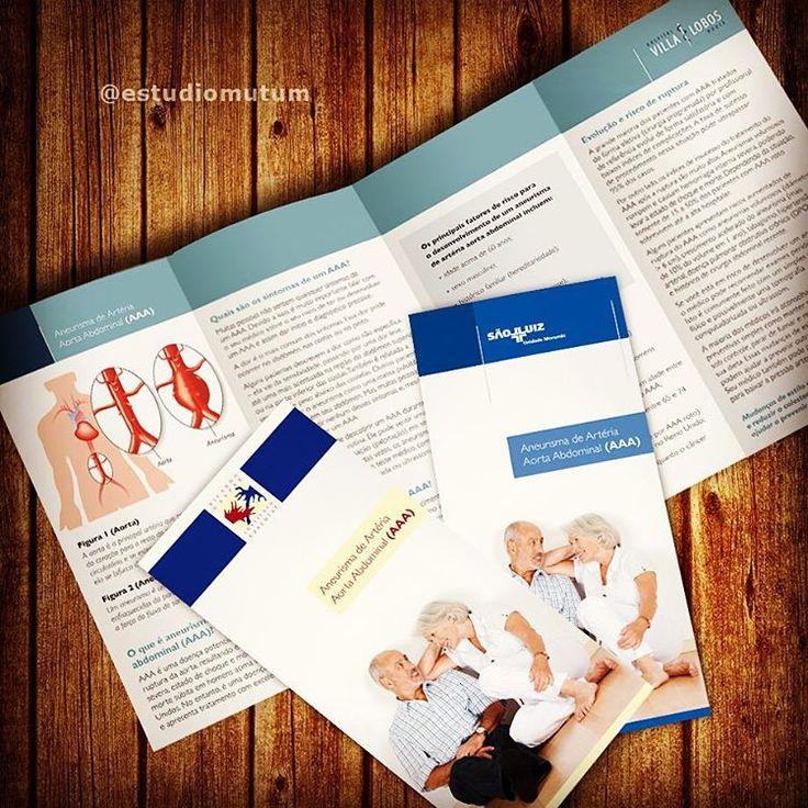 Criação de folders para a prevenção da aneurisma de aorta abdominal em parceria com a Invasive SP. Curta nossa página no Facebook!