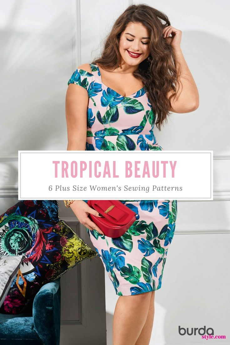 380 best sewing patterns collections images on pinterest tropical beauty 6 new plus size womens sewing patterns jeuxipadfo Choice Image