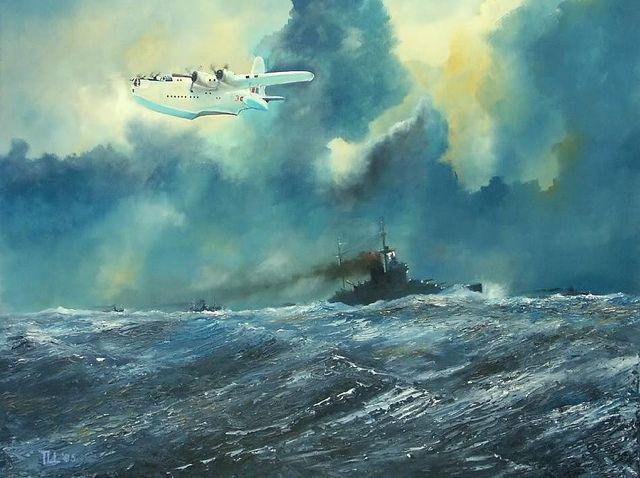 Short S.25 Sunderland аnd HMS Warspite by kitchener.lord, via Flickr