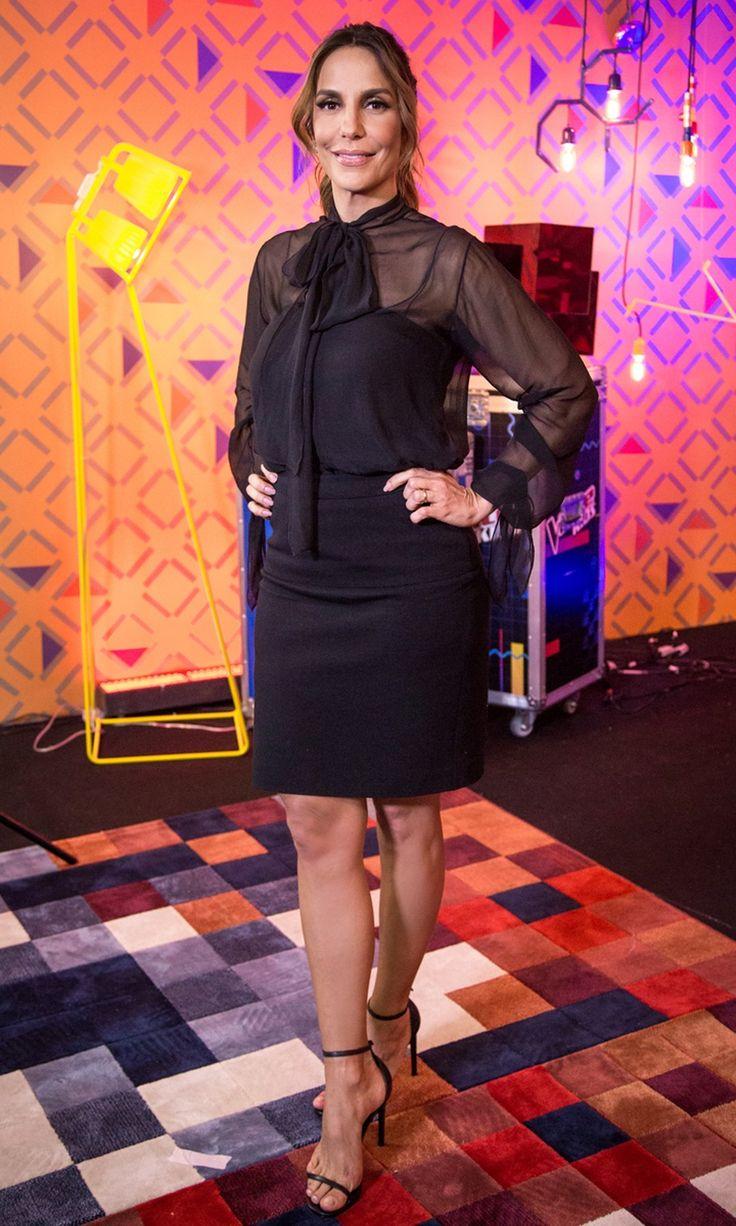 Ivete Sangalo aposta em look total black para o segundo dia de Audições às Cegas do 'The Voice Kids'
