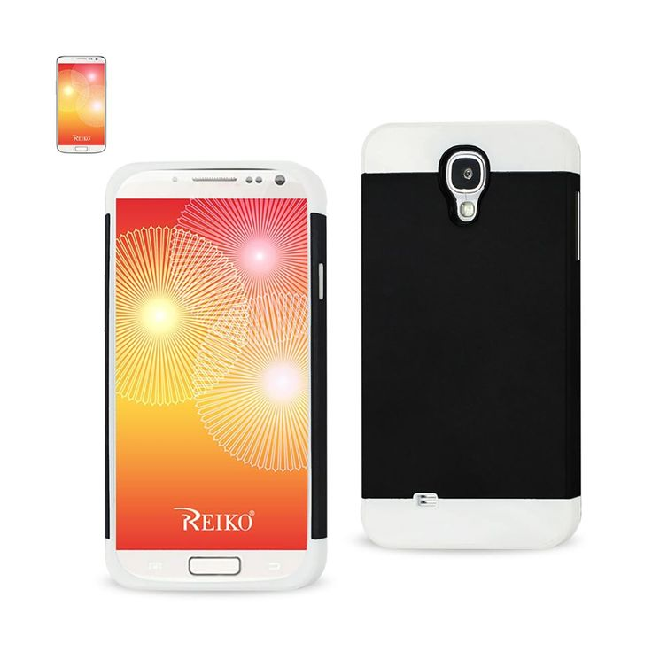 REIKO SAMSUNG GALAXY S4 CASE WITH CARD HOLDER WHITE BLACK | MaxStrata