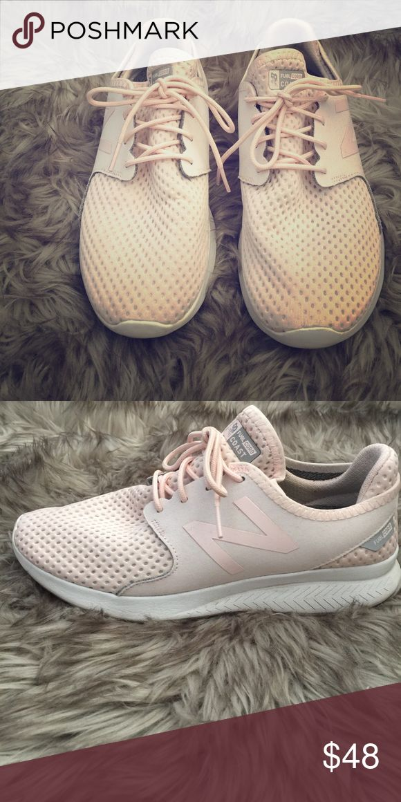 New balance fuel core coast shoes Worn only a hand full of times. Shoes are  in a blush pink color.  Super comfortable and perfect for spring/summer New Balance Shoes Athletic Shoes
