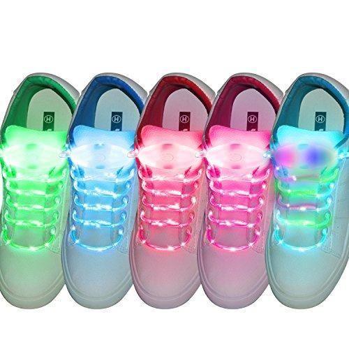 Oferta: 23.98€ Dto: -50%. Comprar Ofertas de fourHeart Cordones LED, 3 Modos Parpadeo Multicolor LED Cordón de Zapato, Bateria Cargada , Para Calzado Botas Disco Danza Fi barato. ¡Mira las ofertas!