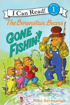 The Berenstain Bears: Gone Fishin'! (I Can Read Book 1)  Papa Bear is thrilled to take Brother, Sister, and Honey fishing: finally he can share with them all his knowledge and expertise. But the cubs prefer to use their simple bamboo poles, bent pins, and worms. Will Papa Bear realize that the shiniest, fanciest gear isn't always the best?