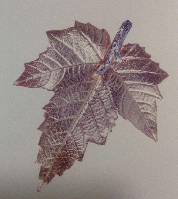 18k goldplated silver leaf by sandra granger