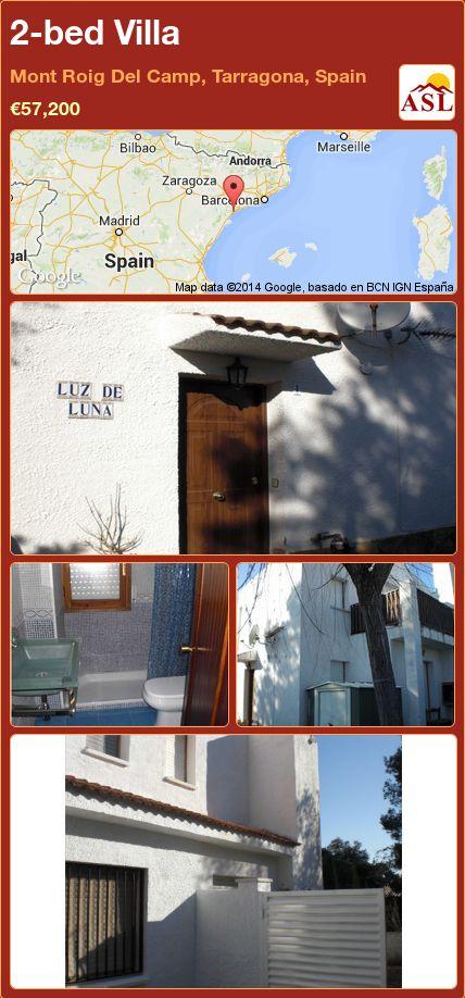 2-bed Villa in Mont Roig Del Camp, Tarragona, Spain ►€57,200 #PropertyForSaleInSpain