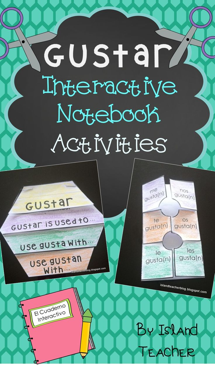 Flip Book and Foldable Templates to use to study GUSTAR with Spanish interactive notebooks.