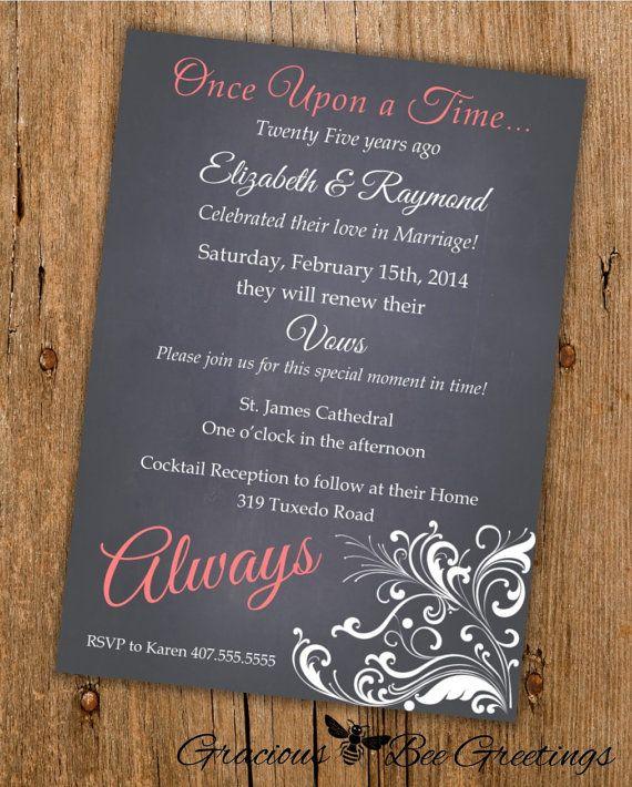 Vow Renewal Invitation  Digital Printable by GraciousBeeGreetings, $14.00