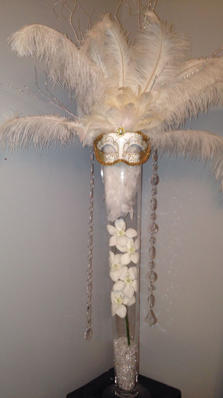 Masquerade decorations you make yourself - Diy Masquerade Centerpiece