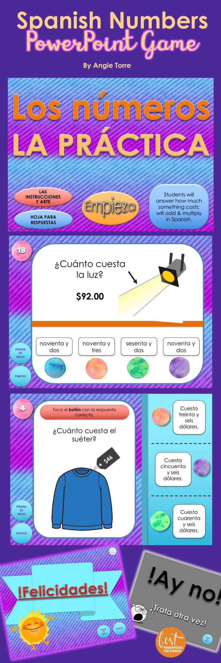 Have you tried Interactive PowerPoint Games yet?  This is a super-fun game that corrects itself so no correcting for you.  It's a great way for students to practice their numbers while using technology.  The game provides comprehensible input but and not only assesses recognition but also spelling.  Click here to see a short video of how it's played.