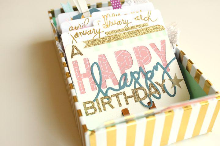 Remember birthdays easier with my @heidiswapp MemoryDex Tray! by Meghann Andrew for Jot Magazine
