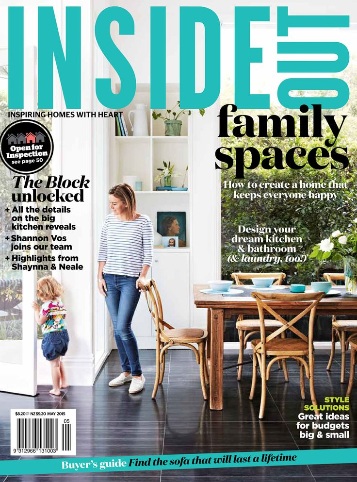 The May 2015 issue of Inside Out magazine. Styling by Heather Nette King. Photography by Armelle Habib. Available from newsagents, Zinio, http://www.zinio.com, Google Play, https://play.google.com/store/magazines/details/Inside_Out?id=CAowu8qZAQ, Apple's Newsstand, https://itunes.apple.com/au/app/inside-out/id604734331?mt=8&ign-mpt=uo%3D4 and Nook.