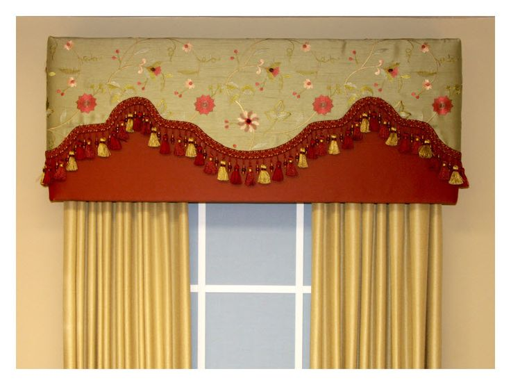 Fabric Valance Ideas The Straight Style Cornice Is