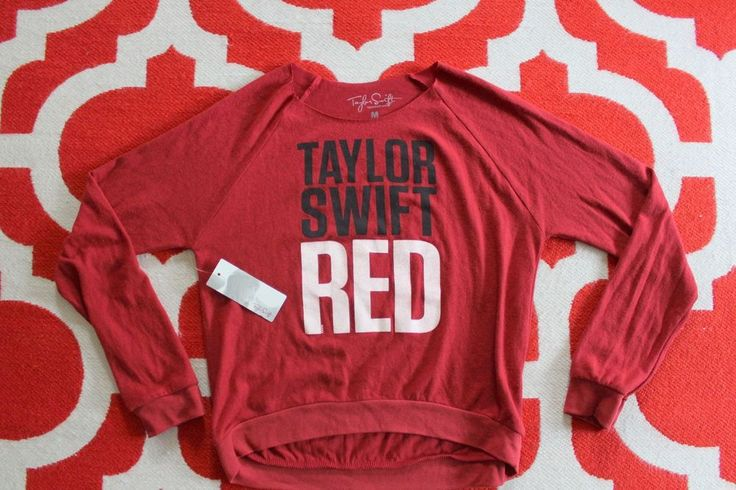 NWT Licensed Taylor Swift Long Sleeve Red Tour Sweater Medium #TaylorSwift #Sweater