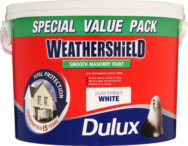 Dulux Weathershield Smooth Masonry 7.5L Pure Brilliant White. Part Number 726852. | eBay!