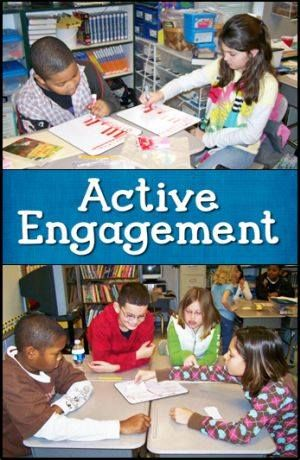Take a look at Active Engagement Strategies in my online File Cabinet! Watch two webinar recordings with practical tips and strategies for increasing engagement in your classroom.  http://www.lauracandler.com/strategies/activeengagement.php