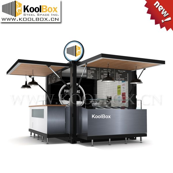Source koolbox 10ft shipping container 3d ice cream kiosk for Food bar manufacturers
