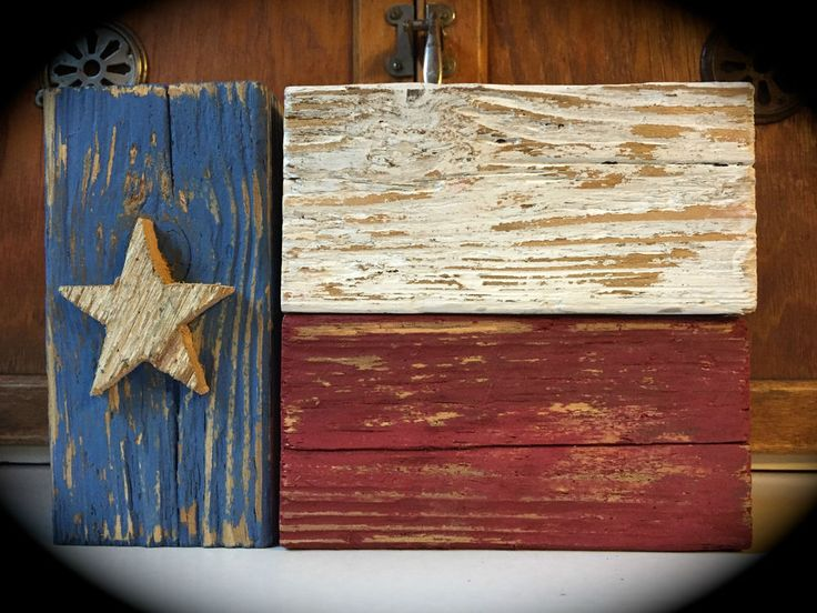TEXAS FLAG SIGN RUSTIC WOOD BLOCKS SHELF SITTER DECOR AMERICANA COUNTRY PRIMITIV #Handmade #RusticPrimitive