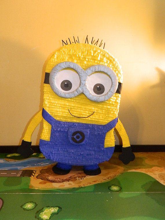 Yellow Banana Monster Custom Made Pull String Piñata yellow pinata for a Minion birthday Minion theme pinata