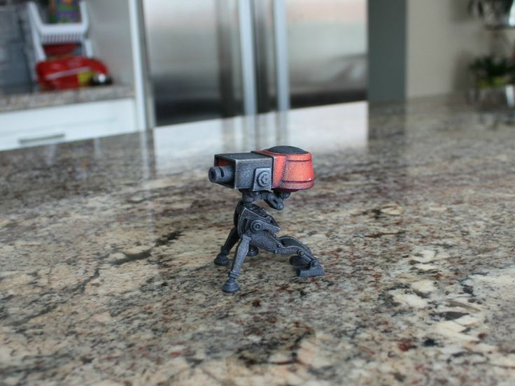 My 3D printed Team fortress 2 (TF2) sentry!   you can buy your own copy here:  https://www.shapeways.com/shops/jwong3D