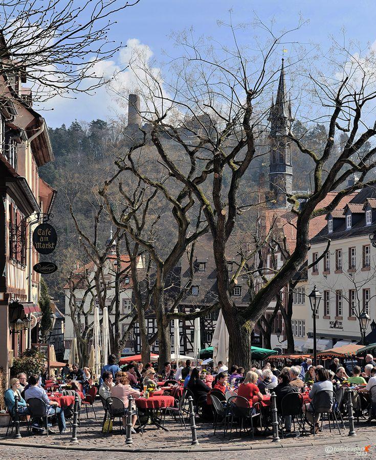 Enjoying coffee in Weinheim in the Spring...