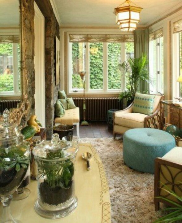 Beautiful Sun room - Not crazy about rug and furniture isn't facing out to - 256 Best Sunroom Ideas Images On Pinterest Sunroom Ideas, Porch