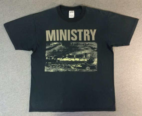 MINISTRY Shirt 1994 Industrial Band Metal Smash by sweetVTGtshirt