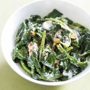 Recept - Spinazie met yoghurt - Allerhande