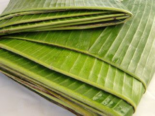 how to use frozen banana leaves