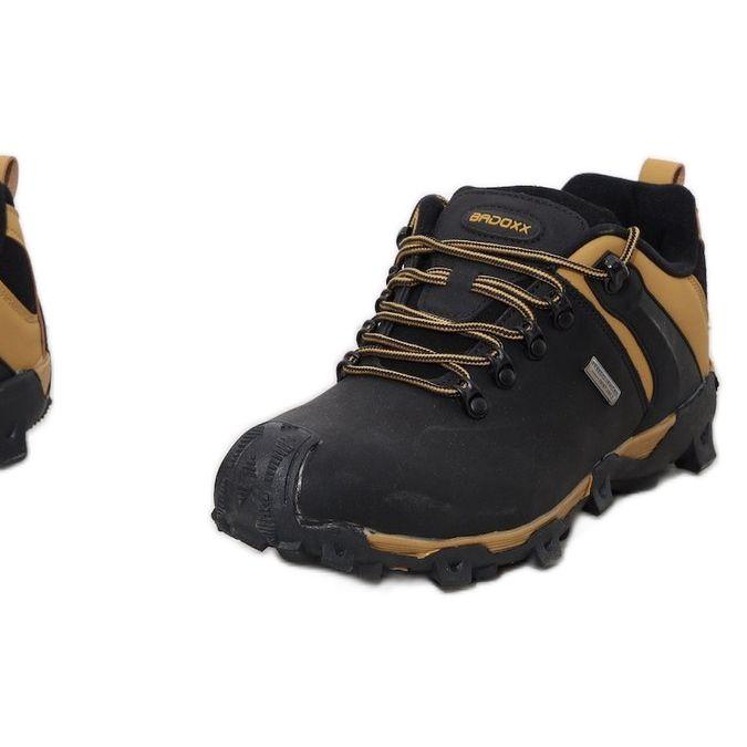 Czarne Ocieplane Trapery Meskie Bamroks Zolte Hiking Boots Shoes Boots