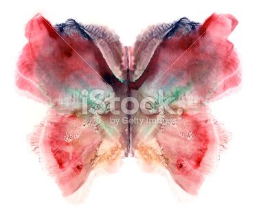 red painted butterfly Royalty Free Stock Photo
