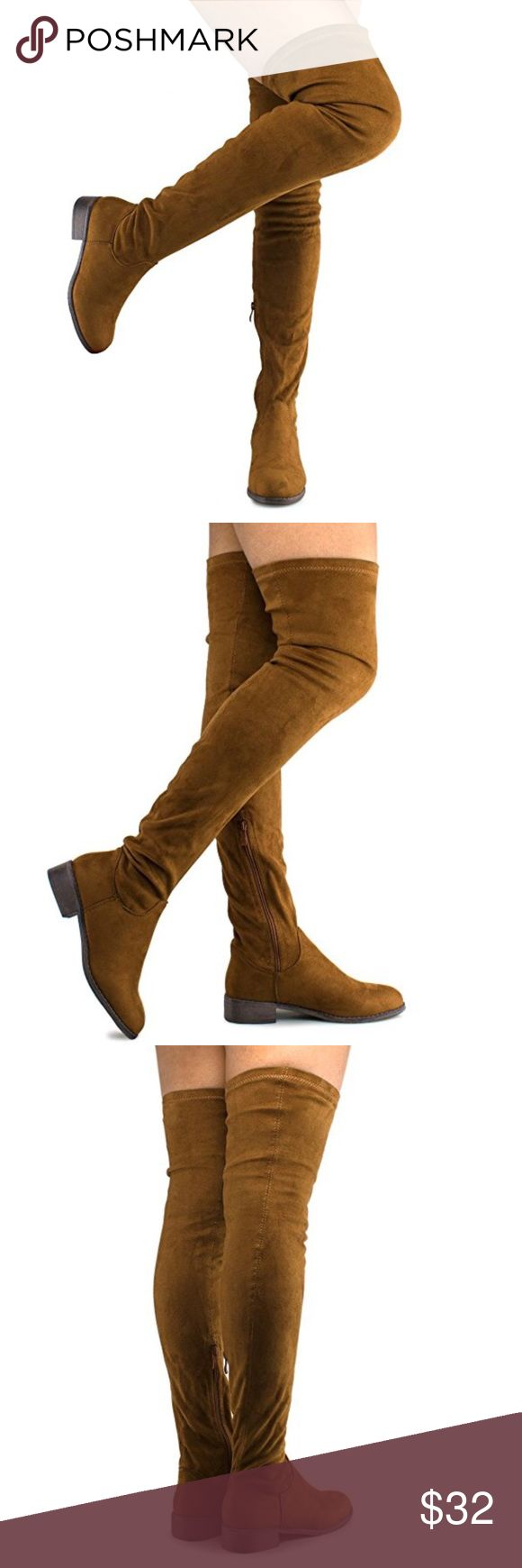 NWOT - Over the knee stretch boots Made from vegan faux suede Shoes Over the Knee Boots