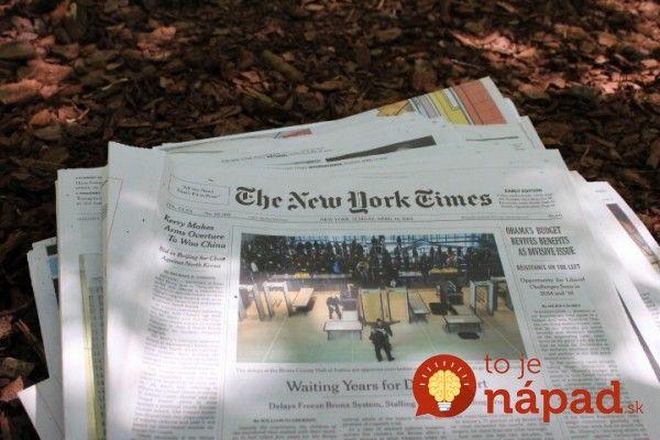 Zdajú sa vám noviny rozložené na zemine ako poriadne bláznivý nápad? Počkajte, až uvidíte výsledok!