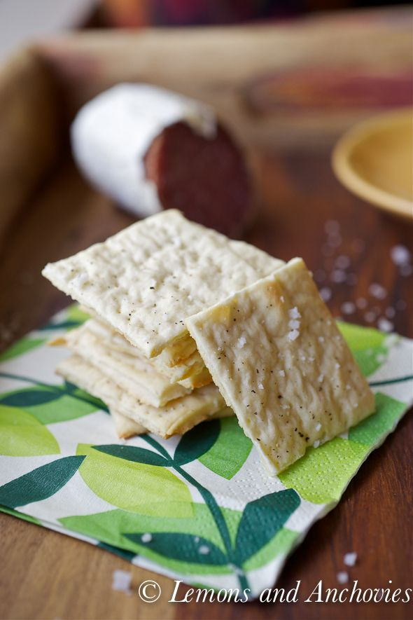 sea salt & pepper crackers - definitely making these and saving myself a ton of money!