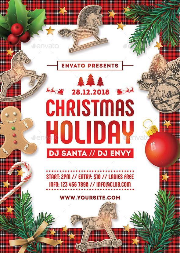 Christmas Party Flyer Template 4 Christmas Parties Flyers And