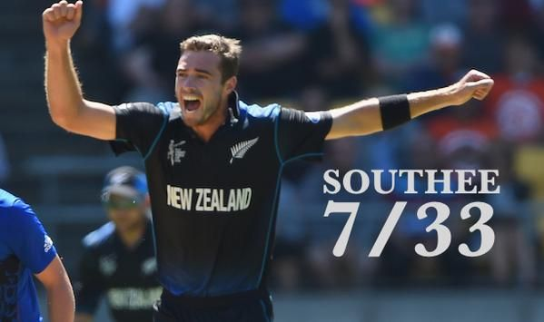 #NZvENG #CWC15 #Tim Southee 7/33