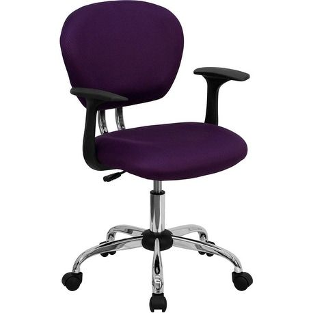 iHome Brielle Collection Mid-Back Purple Mesh Swivel Home/Office Task Chair w/Chrome Base & Arms