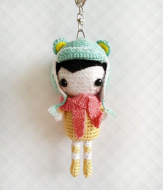 Crochet Amigurumi Doll Cute Keychain Crochet by krokrolamb on Etsy