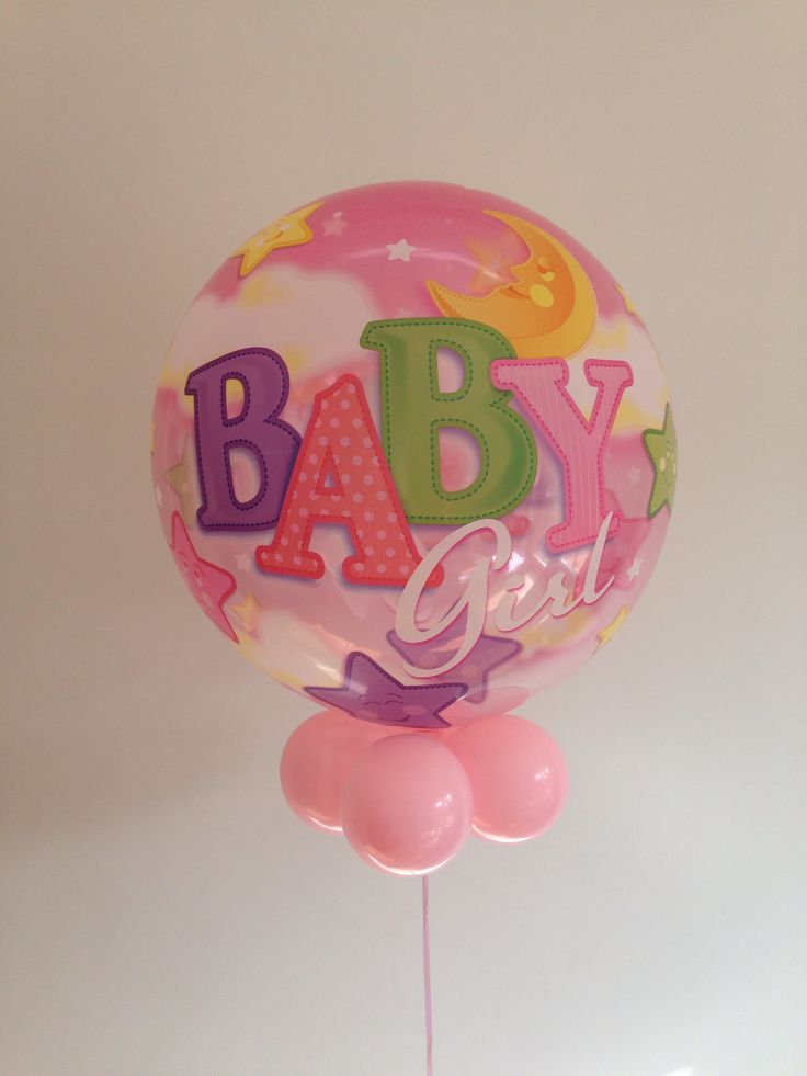 Baby girl balloon.
