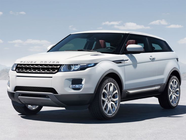 Stylish lines and an athletic stance the Range Rover Evoque.