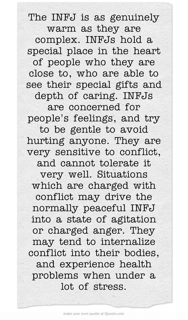 INFJ....yep, pretty much.  Very very important to 'try' and stay healthy...  I believe the whole field of 'health psych' was created for us.  I'll get on that right after I solve world peace.