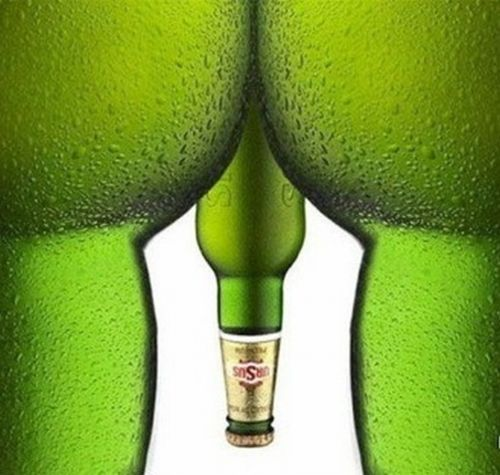 Sexy: Green, Beer Bottle, Too Funny, Romania, Funny Commercials, Drinks, Bottle Art, Beerbottle, Prints Ads