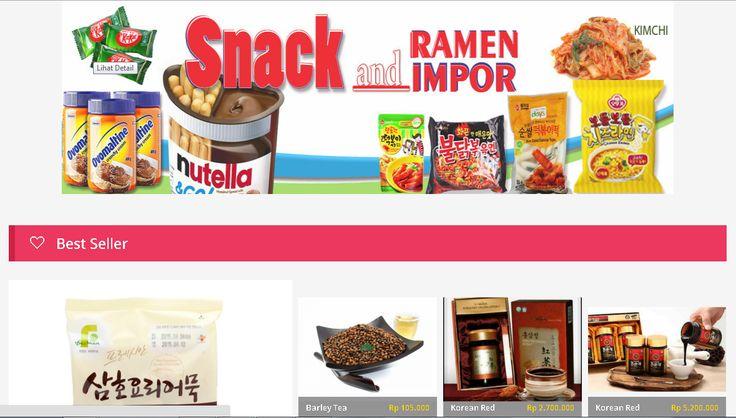 Ngidam snack-snack impor kekinian? Cari aja di  sini, mudah dan lengkap!!